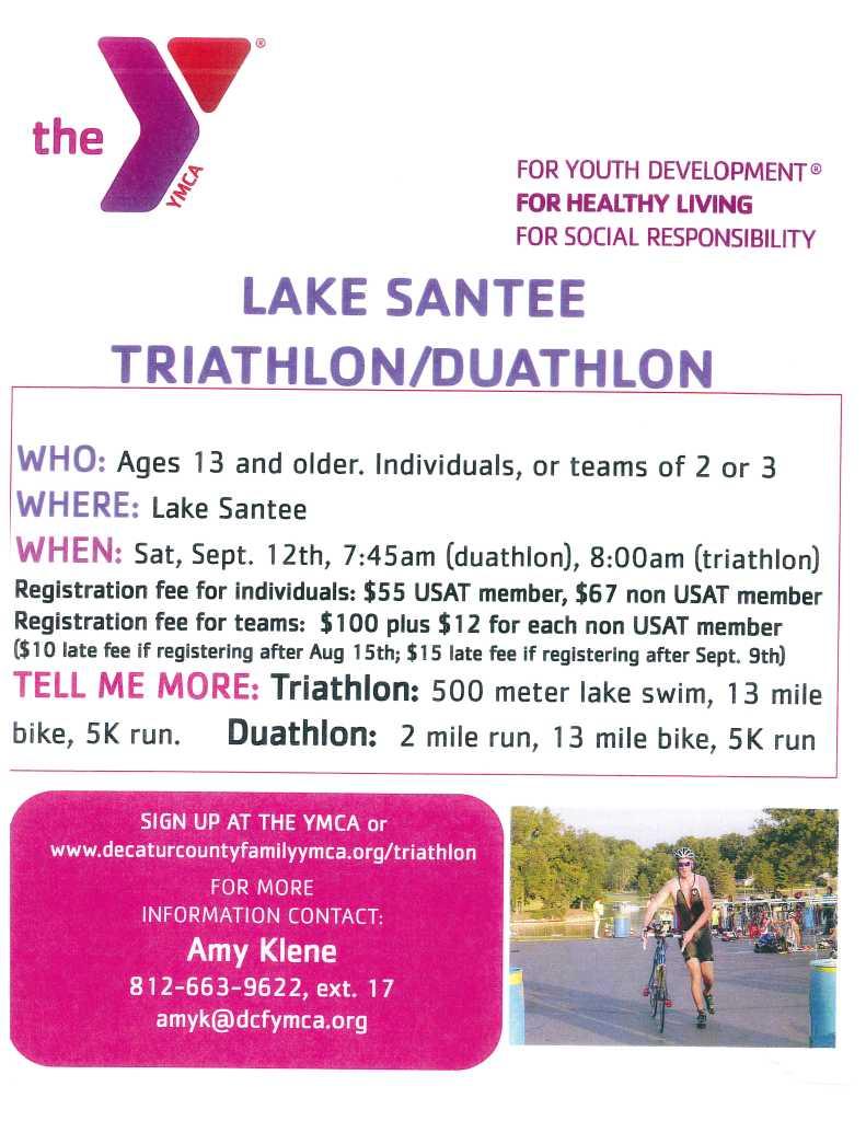 2015 Decatur Co YMCA Lake Santee Triathlon - Duathlon