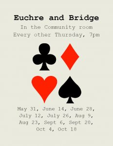 Euchre & Bridge @ Community Room