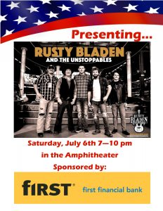 Music in the Amphitheater - Rusty Bladen & the Unstoppables