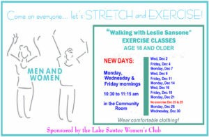 Free Exercise Class @ Community Room