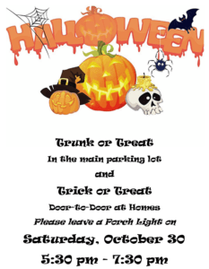 Trick or Treat & Trunk or Treat